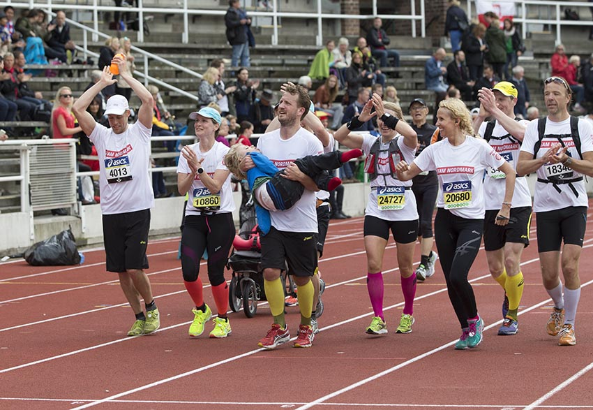 Team Nordmark genomförde Stockholm Marathon